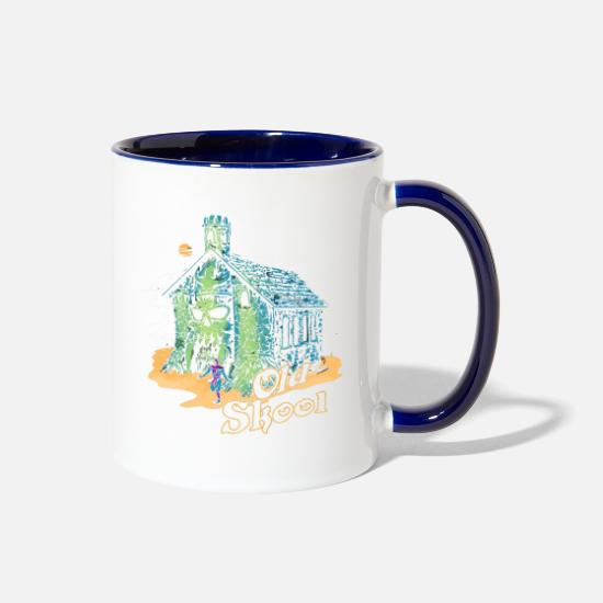 Old Fashioned Mugs & Drinkware - Old Skool - Two-Tone Mug white/cobalt blue