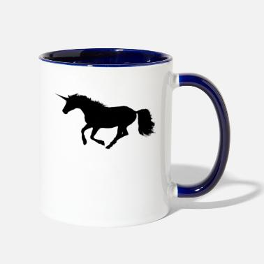 Gallop Wild Galloping Unicorn - Contrast Coffee Mug