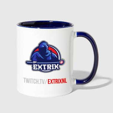 Extrix's Apprentice Logo + Twitch - Contrast Coffee Mug