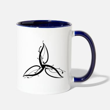 Wicca wicca art flower leaf - Two-Tone Mug