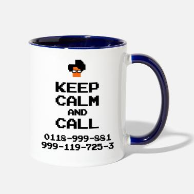 It Crowd IT Crowd Moss emergency KEEP CALM - Two-Tone Mug