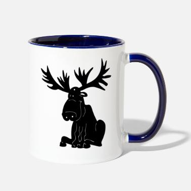 Moose moose - Contrast Coffee Mug