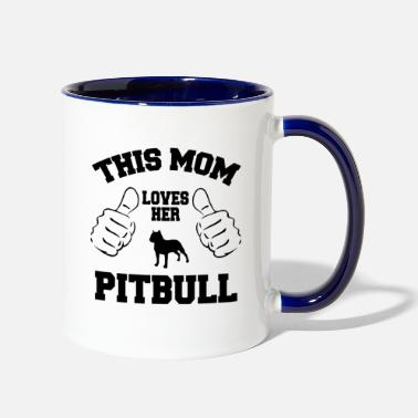 Mum Pitbull Love - Two-Tone Mug