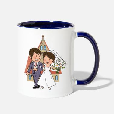 Matrimony Just Married - Two-Tone Mug