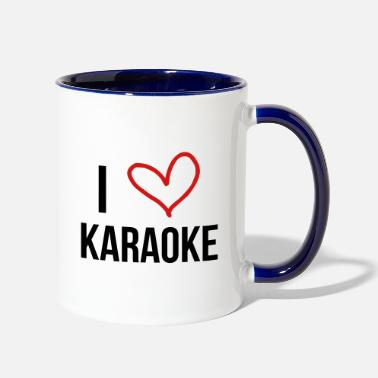 Chant I Love Karaoke - Two-Tone Mug