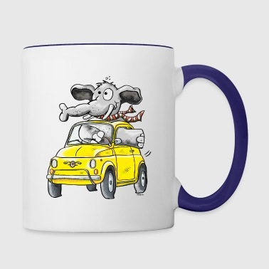 Elephant Car - Oldtimer - Contrast Coffee Mug