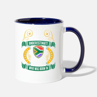 South Never Underestimate A South African March Queen - Contrast Coffee Mug
