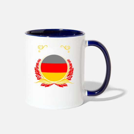 Germany Mugs & Drinkware - This Is Germany - Two-Tone Mug white/cobalt blue