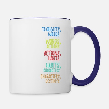 Watch Thoughts Actions Habits Character Destiny Water Bottle