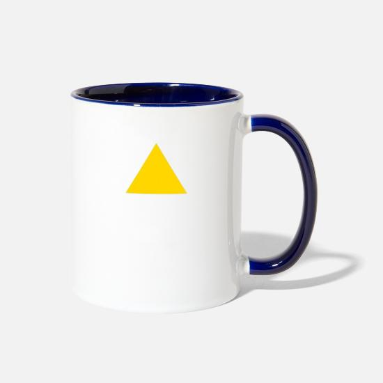 Snowman Mugs & Drinkware - Legion Triangle! - Two-Tone Mug white/cobalt blue