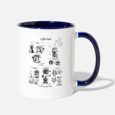 Coffee Coffee Time Group of Vintage Patent Prints - Two-Tone Mug
