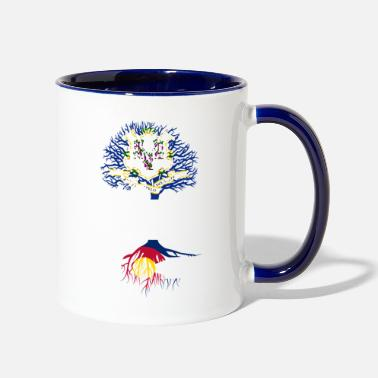 Living in Connecticut With Colorado Roots - Two-Tone Mug