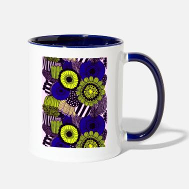 Pattern Beautiful natural flowers - Two-Tone Mug