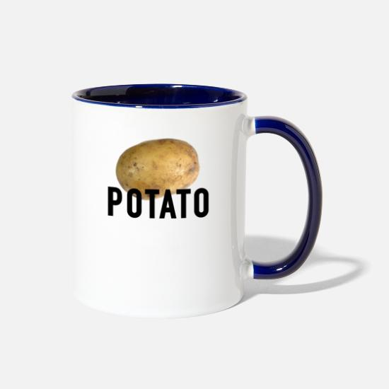Potato Mugs & Drinkware - potato - Two-Tone Mug white/cobalt blue