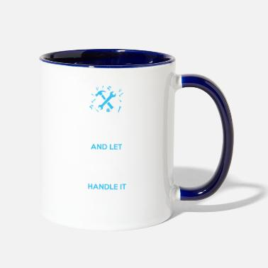 School Keep calm and let school social worker handle it - Two-Tone Mug