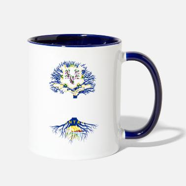 Living in Connecticut With Montana Roots - Two-Tone Mug