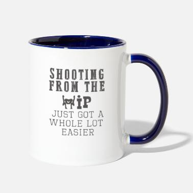 Hip Top Fun Hip replacement shooting from the hip - Two-Tone Mug