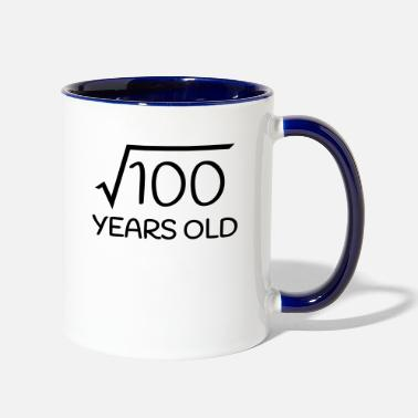 10th Birthday Ideas 10 Years Old - 10th Birthday (square root 100) - Two-Tone Mug