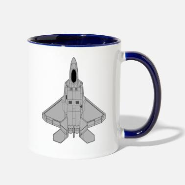 Fighter Jet Fighter jet - Contrast Coffee Mug