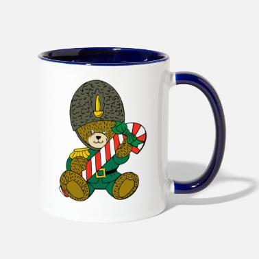 Christmas Teddy with a candy cane  ) - Two-Tone Mug 1b3111a8493d