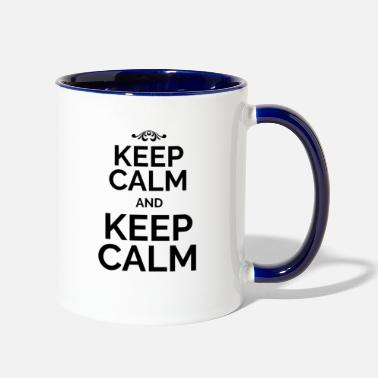 Keep Calm Keep Calm and Keep Calm black - Contrast Coffee Mug