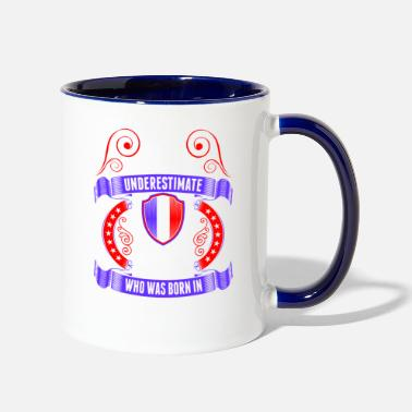 Crown Never Underestimate A French February King - Contrast Coffee Mug