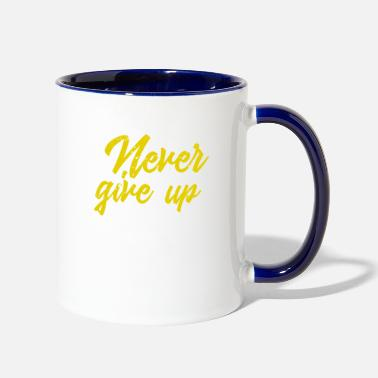 Eventing Never give up Vintage - Two-Tone Mug