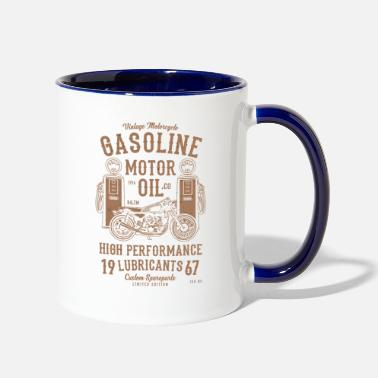 Oil GASOLINE MOTOR OIL - Two-Tone Mug