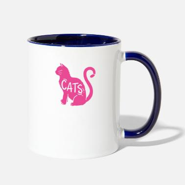 Cat Fan A must for cat lovers and cat fans - Two-Tone Mug