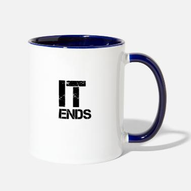 End it ends - Two-Tone Mug