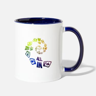 Pik Poker ALL IN Karten Pik Texas Holdem - Contrast Coffee Mug