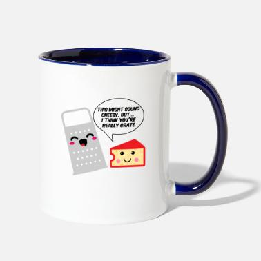 Pun This Might Sound Cheesy I Think You're Grate - Contrast Coffee Mug