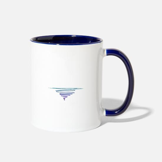 Nature Mugs & Drinkware - The Geometry of Sunrise - Two-Tone Mug white/cobalt blue