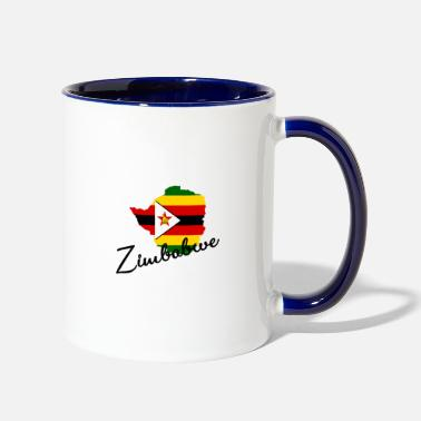 South Zimbabwe - Africa - Safari - Rhinoceros - Giraffe - Two-Tone Mug