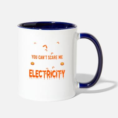 Electricity Electricity I Work With Electricity - Two-Tone Mug
