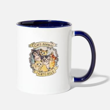 Against CATS AGAINST - Two-Tone Mug