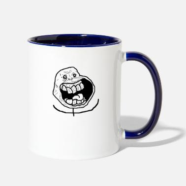 Meme Funny meme face - Two-Tone Mug