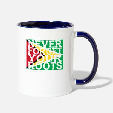 never forget roots home Guyana - Two-Tone Mug