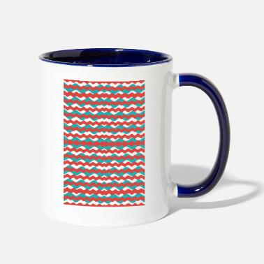 Pattern Geometric Waves Pattern - Two-Tone Mug