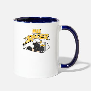 Racing Car Car Racing - Contrast Coffee Mug