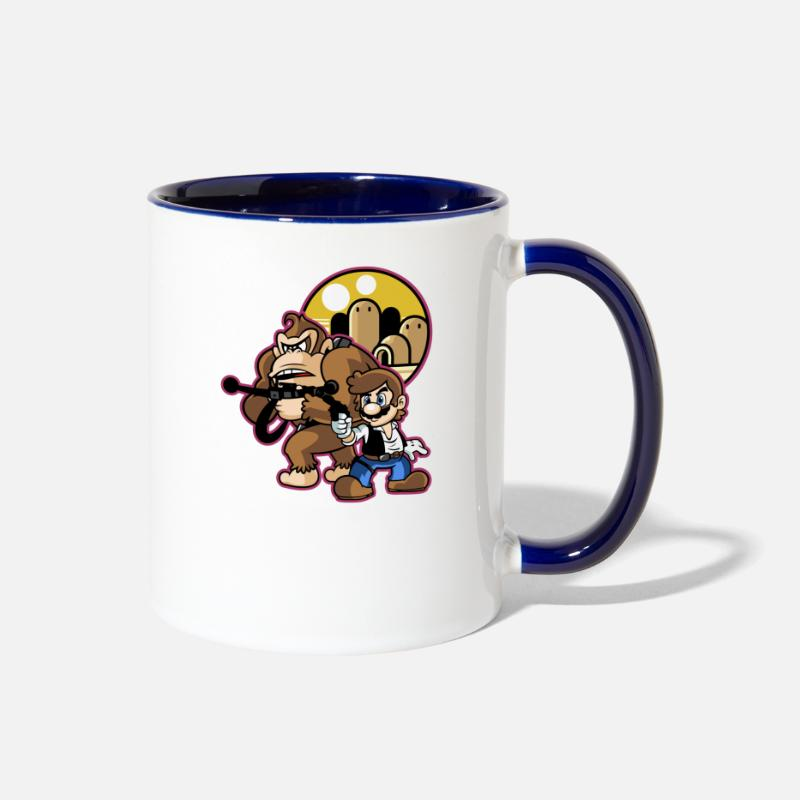 Gaming Mugs & Drinkware - Mario Solo - Two-Tone Mug white/cobalt blue