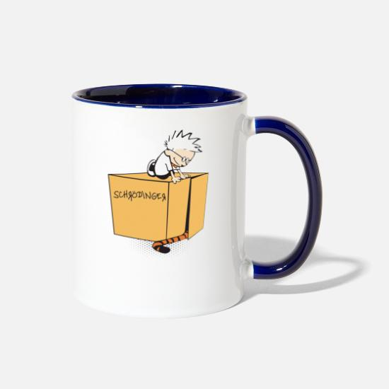 Movie Mugs & Drinkware - Playing Schrodinger - Two-Tone Mug white/cobalt blue