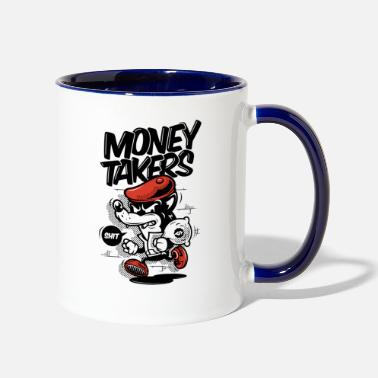 Money Money Takers - Two-Tone Mug