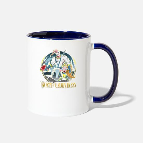 Game Mugs & Drinkware - Worm of Grooviness - Two-Tone Mug white/cobalt blue