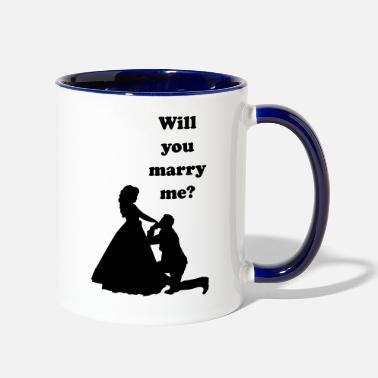 Marriage Proposal Marriage proposal wedding engagement idea romantic - Contrast Coffee Mug