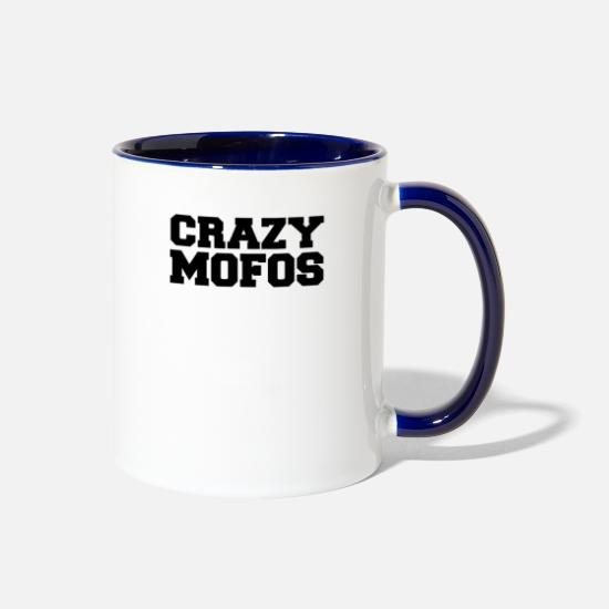 Crazy Eights Mugs & Drinkware - ZB311 Best Trending - Two-Tone Mug white/cobalt blue