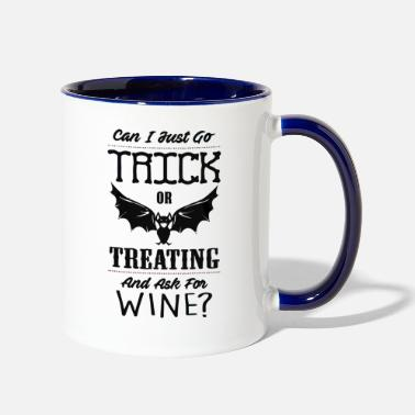 Comics &amp Trick Or Treating amp Ask for Wine - Two-Tone Mug