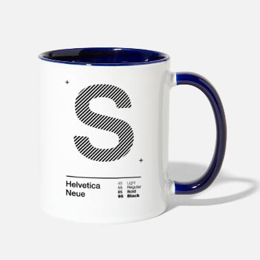 Initial s Strips - Two-Tone Mug