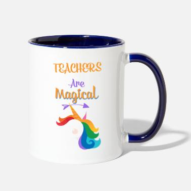 University Unicorn teacher magically gift class teacher Prof - Two-Tone Mug