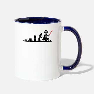 Lego Evolution Of Darth Lego Funny - Two-Tone Mug